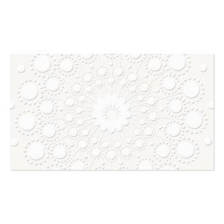 Präglad vitbakgrund för elegant Faux Set Av Standard Visitkort