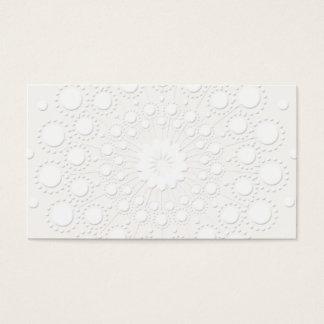 Präglad vitbakgrund för elegant Faux Visitkort