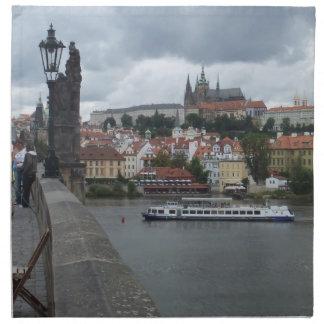Prague/Praha beställnings- trasaservetter Tygservett