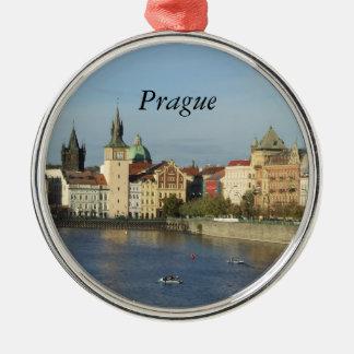 Prague reser den tjeckiska gåvan rundaprydnaden julgransprydnad metall