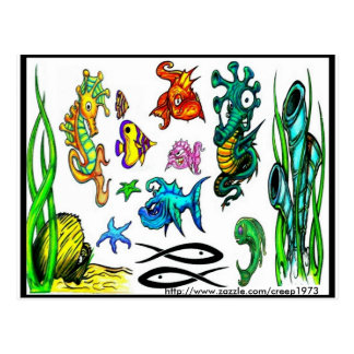 Prålig vykort för tatuering