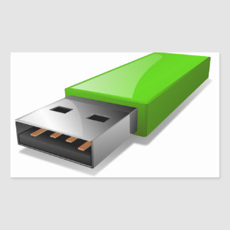 Pråliga drevklistermärkear för USB Rektangulärt Klistermärke