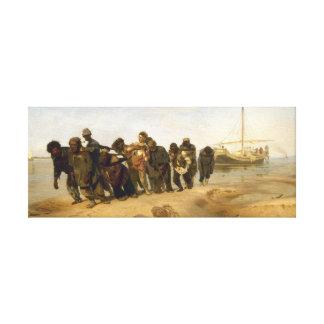 Pråmåkare på Volgaen Canvastryck