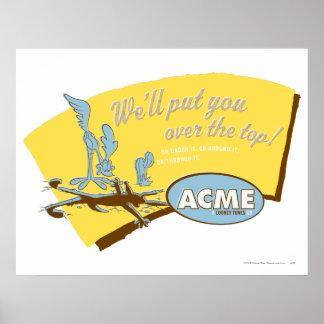 Prärievarg för Wile E och Acme för VÄG RUNNER™ Poster