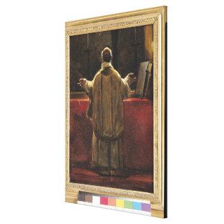 Präst på altaret canvastryck