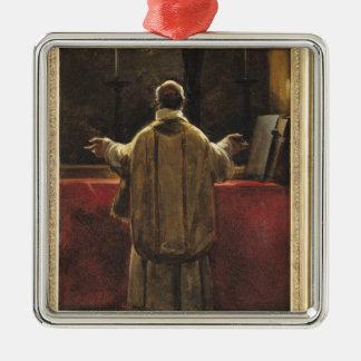 Präst på altaret julgransprydnad metall
