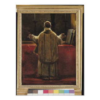 Präst på altaret poster