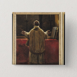 Präst på altaret standard kanpp fyrkantig 5.1 cm
