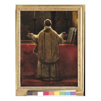 Präst på altaret vykort
