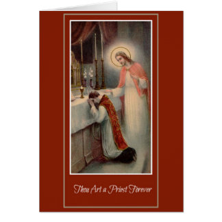 Prästvigning Jesus för prästerskapårsdagpräst Hälsningskort