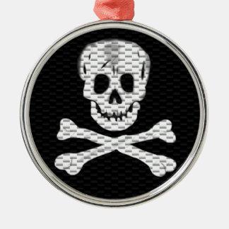 Prata som en pirat dag julgransprydnad metall