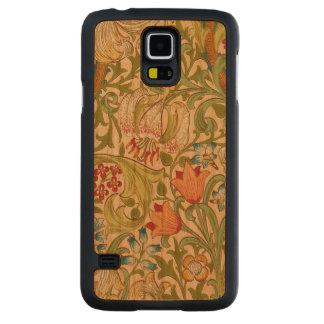 Pre-Raphaelite för William Morris guld- Carved Körsbär Galaxy S5 Slim Skal