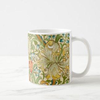 Pre-Raphaelite för William Morris guld- Vit Mugg