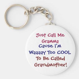 Precis appell mig Gramma kall farmor Keychain Rund Nyckelring