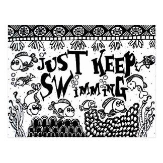 Precis behålla som simmar vykort - Spoonie