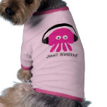 Precis Chillin rosa manet med hörlurar Hund T-shirts