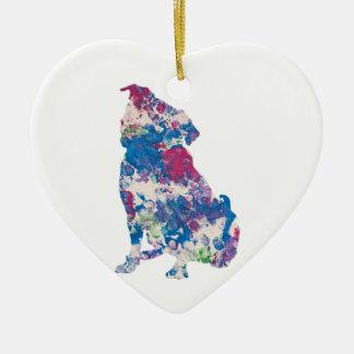 Precis för Gina konstarbete av Baxter, prydnad Julgransprydnad Keramik