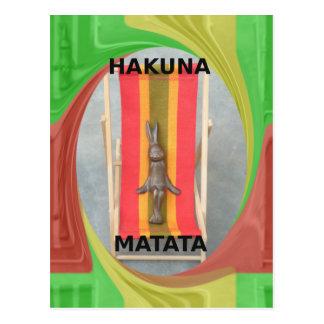Precis kyla Hakuna Matata sommartid Vykort