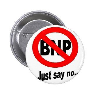 Precis något att säga inte till BNP Standard Knapp Rund 5.7 Cm