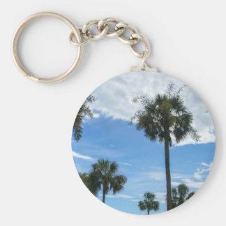 Precis palmträd rund nyckelring