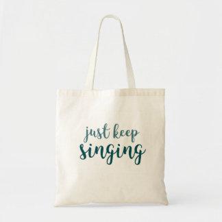 Precis sjunga för behålla tygkasse