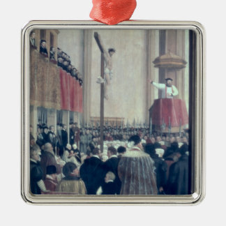 Predikan av den påvliga legaten, Cornelius Musso Julgransprydnad Metall