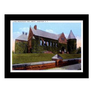 Prendergrast bibliotek, Jamestown NY 20-talvintage Vykort