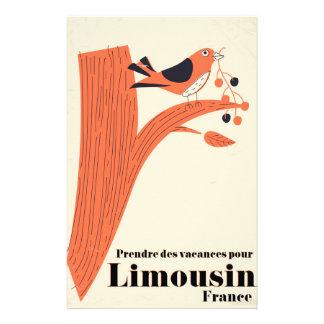 Prendre des-vacances häller Limousin frankriken. Brevpapper