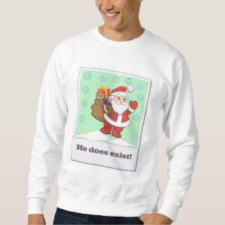 Preparera av Santa som han finns tröjan Lång Ärmad Tröja