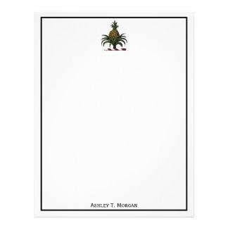 Preppy heraldisk ananasvapensköldfärg RWT Brevhuvud