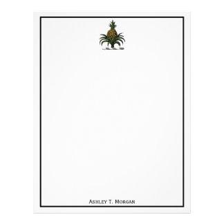 Preppy heraldisk VIKT för ananasvapensköldfärg Brevhuvud