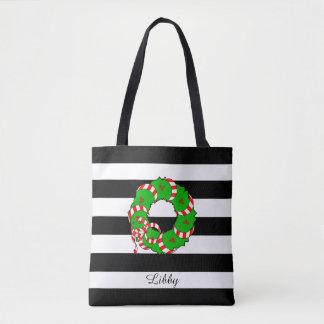 PREPPY JULKRAN FÖR CHIC TOTE_GIRLY/ TYGKASSE