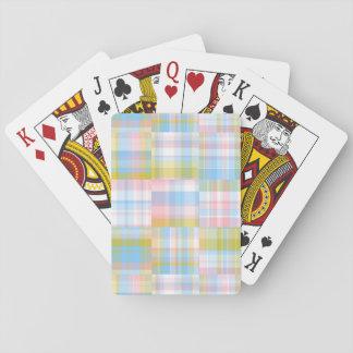 Preppy PatchworkLookMadras pastell Casinokort