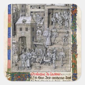 Presentation av boken till Philippe Le Bon Fyrkantigt Klistermärke