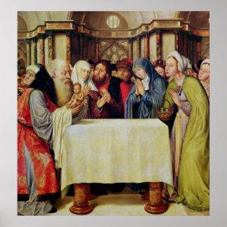 Presentation av Kristus i tempelet Poster