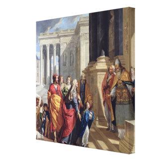 Presentation av oskulden i tempelet canvastryck
