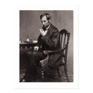 PRESIDENT ABRAHAM LINCOLN 1862 STEREOVIEW VYKORT