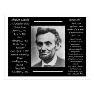 President Abraham Lincoln Vykort