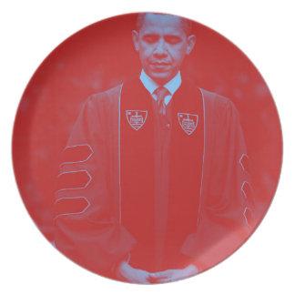 President Barack Obama på Notre Dame universiteten Fest Tallrikar