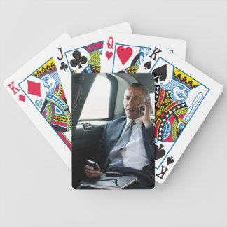 President Obama som leker kort Spelkort