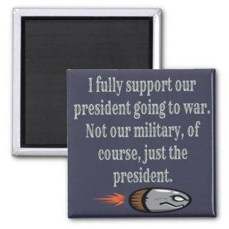 President som går till krigskämtet