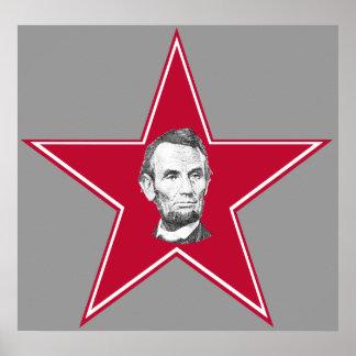 PresidentAbraham Lincoln stjärna Poster