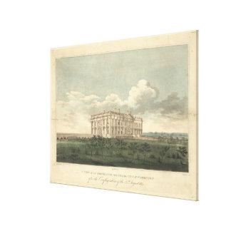Presidenter returnerar i Washington, efter 1814 Canvastryck