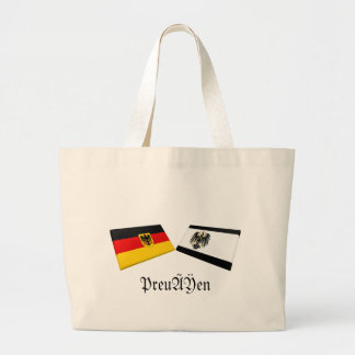 Preussen Tysklandflagga belägger med tegel Jumbo Tygkasse