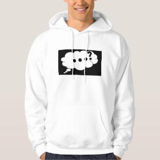 Pricka längst ner av en ifrågasätta markerar? sweatshirt med luva