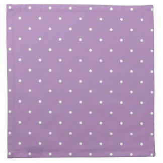 Pricker den afrikanska violetta purpurfärgade tygservett