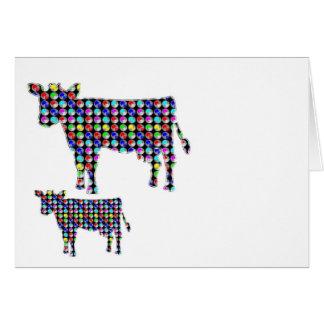 Pricker den djura domesticen för KOmjölk ROLIGT Hälsningskort