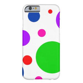 Pricker den färgrika polkaen för den ljusa modet barely there iPhone 6 skal