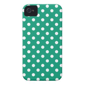 Pricker den gröna polkaen för smaragden iPhone 4 Case-Mate skydd