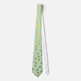Pricker den guld- konfettin för den chic minten slips